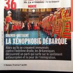 "RT @AgnesCPoirier: Ukip (and how it is changing Britain) explained to the French in this weeks weekly Marianne. ""Xenophobia has landed"" http://t.co/jDJJzBpu0t"