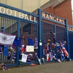 The Ibrox gates are now a focal point for tributes to Sandy Jardine, the Rangers legend who died yesterday aged 65 http://t.co/vO5tzoUBDr