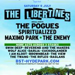 RT @adrianhunter: The Libertines: Its official, were HEADLINING BST Hyde Park 5th July with special guests The Pogues. http://t.co/i1Jono14kl