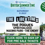 The Libertines reunite! Band to play #London #Hyde Park on July 5. Tickets on presale next Wednesday. #TheLibertines http://t.co/j2yxc0WzE5