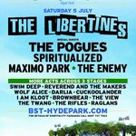 The Libertines: Its official, were HEADLINING BST Hyde Park 5th July with special guests The Pogues. http://t.co/hgaHwUC7sP