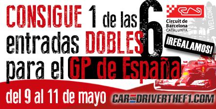 Síguenos y haz RT si quiere ganar 1 ENTRADA DOBLE para ver el #GPEspaña desde el mismo @Circuitcat_es ¡Tenemos 6! http://t.co/zxS6e0wpNc