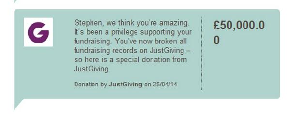 We're very proud of you @_StephensStory - so here's a donation from us. #stephensstory http://t.co/yoXZXHukKr