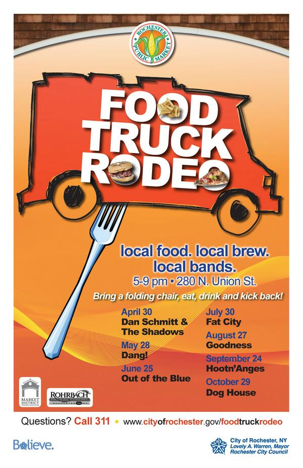 Woot! RT @CityRochesterNY: Giddy up y'all! #FoodTruckRodeo rolls into Public Market next Wednesday! @RocFoodTrucks http://t.co/zmdfYsY9Q4