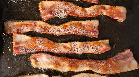 For no particular reason, here is a picture of four slices of sizzling bacon. Please enjoy. http://t.co/sJa93qjHlc
