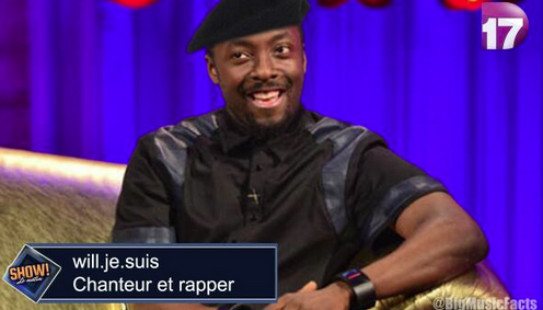 Will I Am accorded proper respect on French TV  http://t.co/uxHrdofrBN via @lucyjones