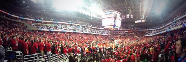 The Verizon Center is rockin! #wizbulls #dcrising @WashWizards http://t.co/LGS27azLln