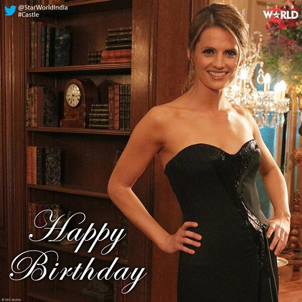 She has got looks to kill for! We wish the gorgeous @Stana_Katic aka Detective Kate Beckett, a very HAPPY BIRTHDAY! http://t.co/4NUOB2nj7Z