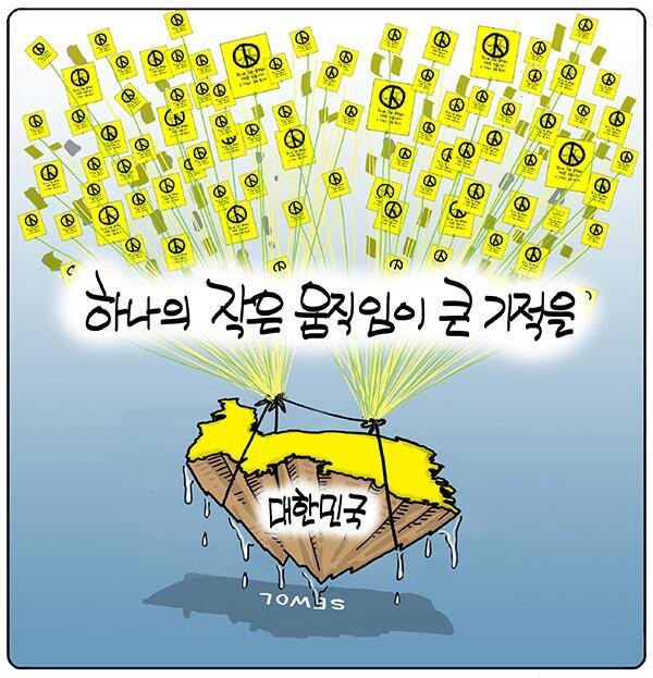 세월호 사건을 통하여 새삼 투표의 중요성을 말하는 '인천일보' 만평 http://t.co/Uaj9By6rtA