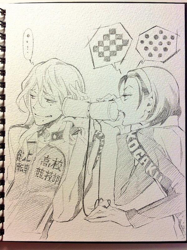 巻ちゃんと東堂さん。 http://t.co/ZvHfzg7e0h