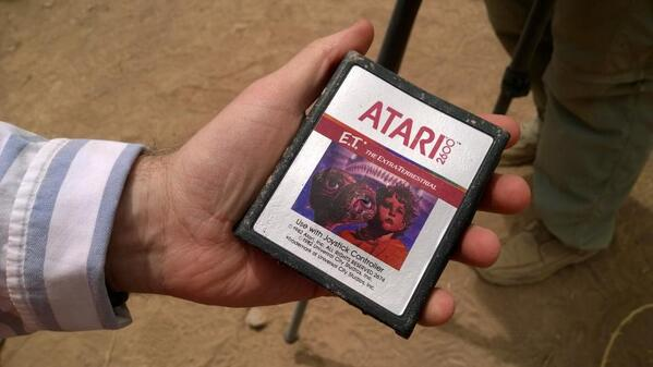 Here it is up close - the very first ET cartridge exhumed after 30 years http://t.co/nb8tv33w8F