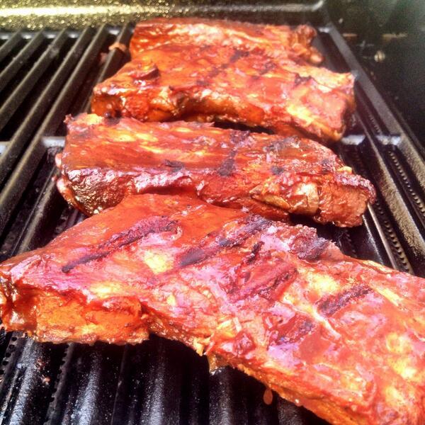 RT @JaySmith273: Smoked rib pairs #damnilovewarmweather @GuyGourmet http://t.co/i0ypMilCmZ