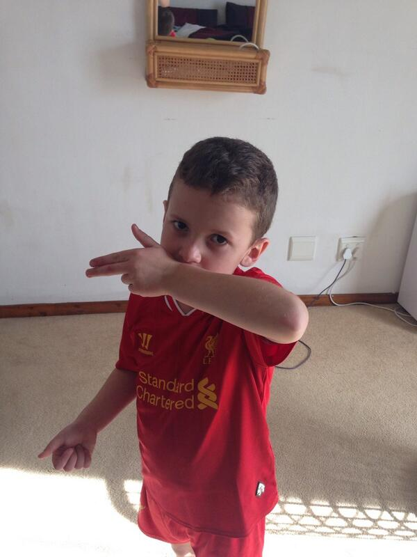 According to Cayleb - everyone cheers for Suarez and Chelsea sucks! @LiverpoolRSA @derekm11 http://t.co/6I98T8OkA2
