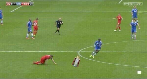 BmO r5PCIAEXcIR Steven Gerrard slips Memes & Jokes flood the internet after Liverpool 0   Chelsea 2