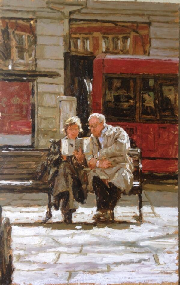 "@xXoOaLiEkOoXx ""@tonykarpinski: ' Day Out in London ' oil painting London http://t.co/i6VHEdFaw0"""
