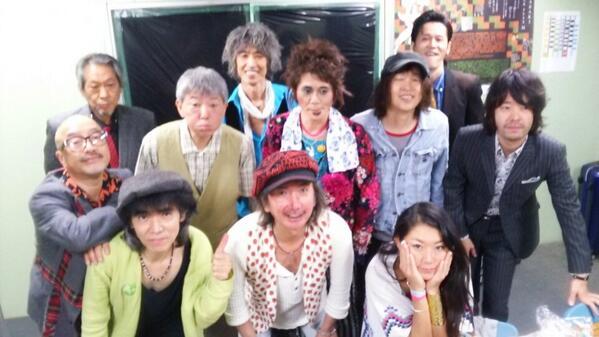 ARABAKI Rock Fest'14「僕の私の好きなキヨシローSONGS」バッチリ終了♪客のノリも良し。俺は「世間知らず」と「トランジスタ・ラジオ」歌った。ちょっとキヨシロー乗り移ってたかな? http://t.co/YhpG6Hc8X4