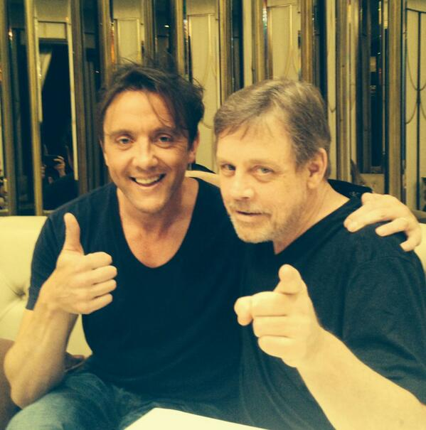 Met up with @HamillHimself in London today. I wonder why he's here. http://t.co/zXpnxWaHyN