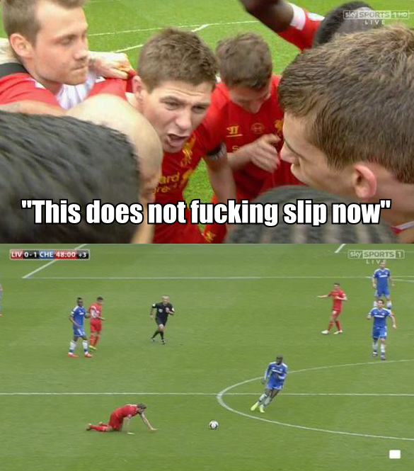 BmPFS7gCEAEG0TU Steven Gerrard slips Memes & Jokes flood the internet after Liverpool 0   Chelsea 2