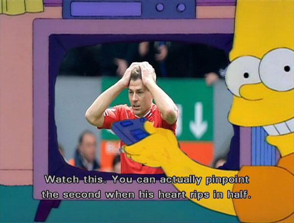 BmPSGeFCEAAXmO7 Steven Gerrard slips Memes & Jokes flood the internet after Liverpool 0   Chelsea 2