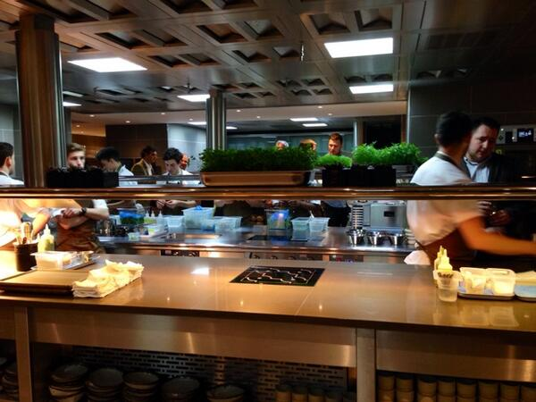 @FeraAtClaridges beautiful kitchen beautiful restaurant, we all wish @simon_rogan the best in his amazing new gaff .. http://t.co/uPTenNuldk