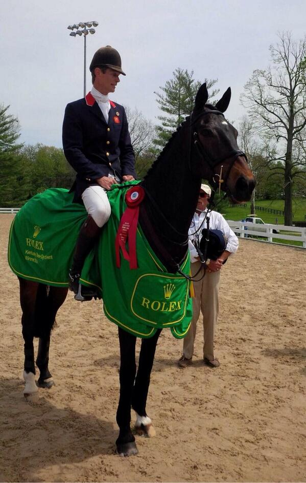 Winners of Rolex 2014, Bay My Hero @RolexKentucky @Catherine_Witt http://t.co/FO6HKQoUxE