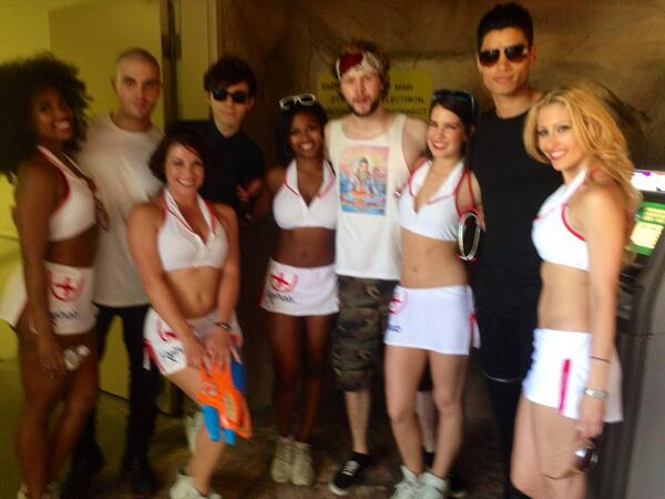 Posing w @thewanted at @rehablv (blurry pic but all I have). Fun day at work. #thewanted #rehab #hardrock http://t.co/8fwTrDls3C