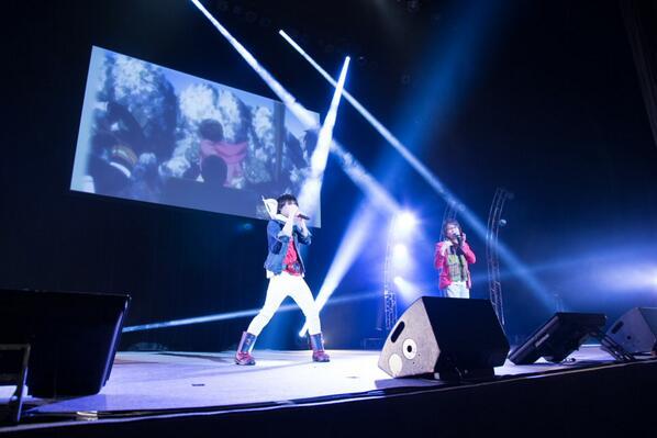 「サムライフラメンコ~ヒーローは終わらない~」今日の1枚です!増田さん、小杉さんのライブ!かっこよかったです!!(宣伝山