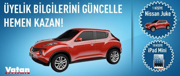 Üyelik Bilgilerini Güncelle veya Yeni Üye Ol Nissan Juke veya iPad Mini Kazanma Şansı Yakala! http://t.co/KakcTOCuza http://t.co/DtVW8frjS3