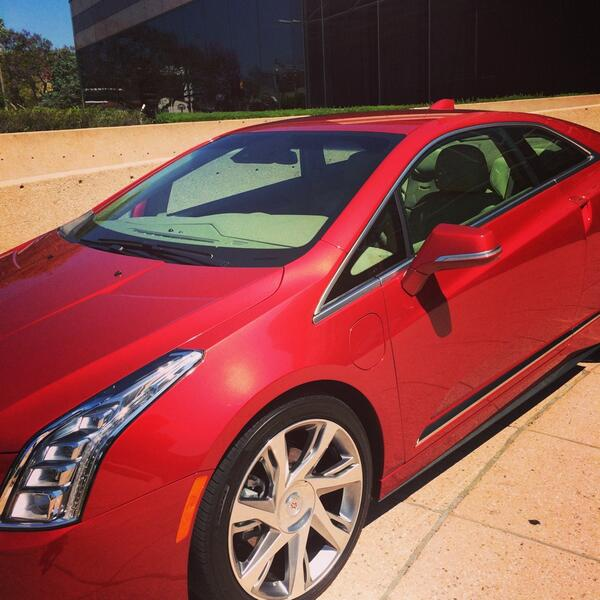 Only the coolest thing EVER! @cadillac let me drive this #ELR for a week. Woo hoo @MyCadillacELR! #itselectric http://t.co/15pn8YUNSB