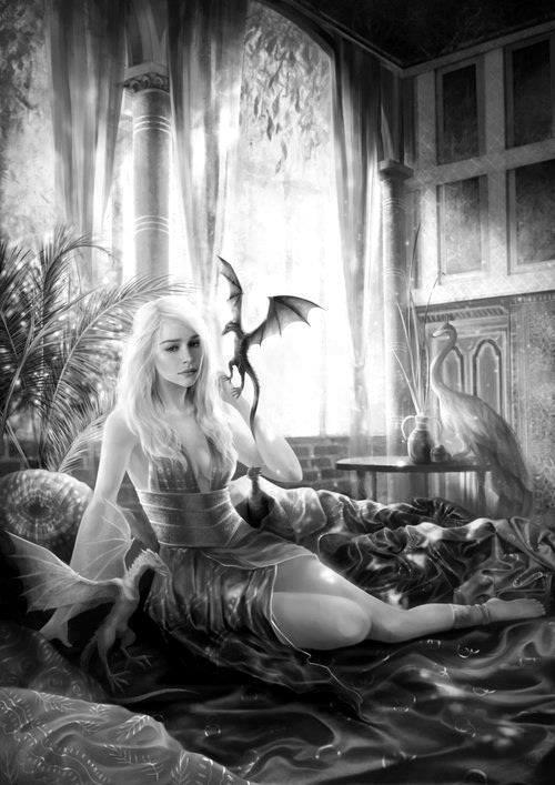Game of Thrones - Khaleesi. #artwork #GoT http://t.co/QiSGURPBR5