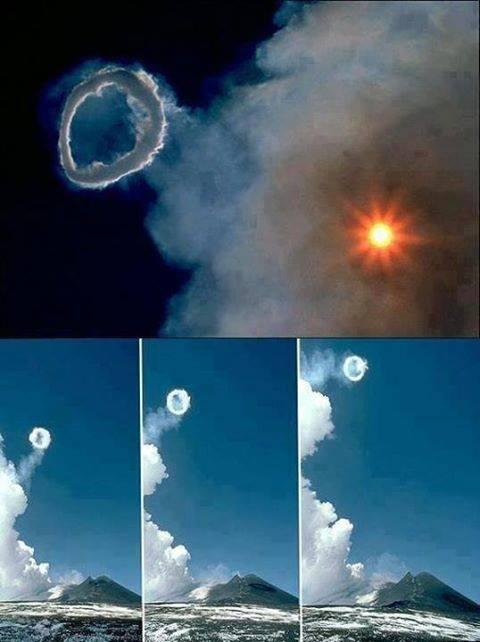 Smoke rings were produced from the central crater cone at intervals of sometimes less than a minute. http://t.co/YecANaPfOe