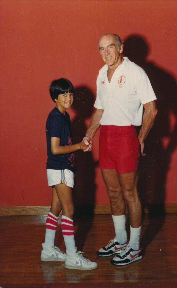 A 10-year-old Erik Spoelstra at basketball camp with Dr. Jack Ramsay in 1980. http://t.co/1baacSAYed