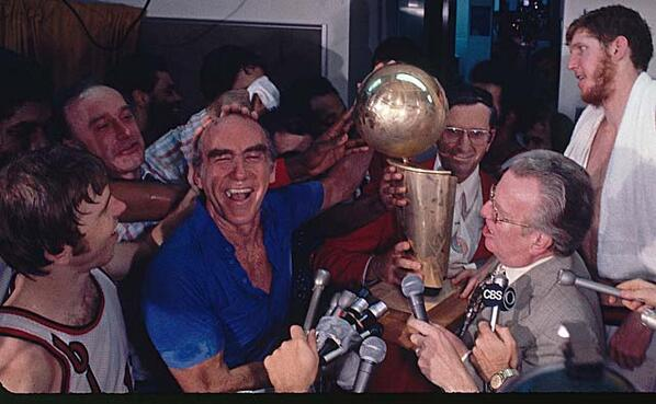 You'll never see a happier person than Dr. Jack Ramsay in this photo. Not sure what's up with Bill Walton though. http://t.co/aJSyaGoph6