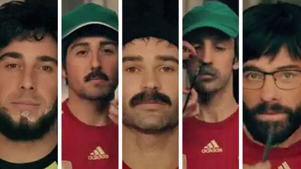 BmWB1wUCYAA  Zj Brilliant new Spain Movistar advert: Cazorla, Alonso, Reina & Iniesta take on regular jobs!
