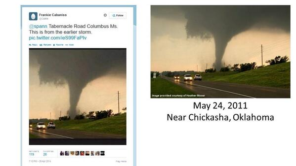 Be on the lookout for fake tornado images! #alwx #mswx #okwx http://t.co/TVeWEtoqXj