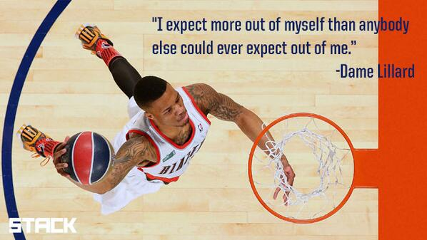 """I expect more out of myself than anybody else could ever expect out of me."" - @Dame_Lillard http://t.co/CanS5ccHlm http://t.co/vDeMd2uM6g"
