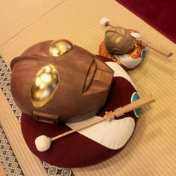 めちゃくちゃカッコイイ… QT @claymanlabo: ウルトラ木魚 いい音色でした。 http://t.co/OE2VGfkfIR