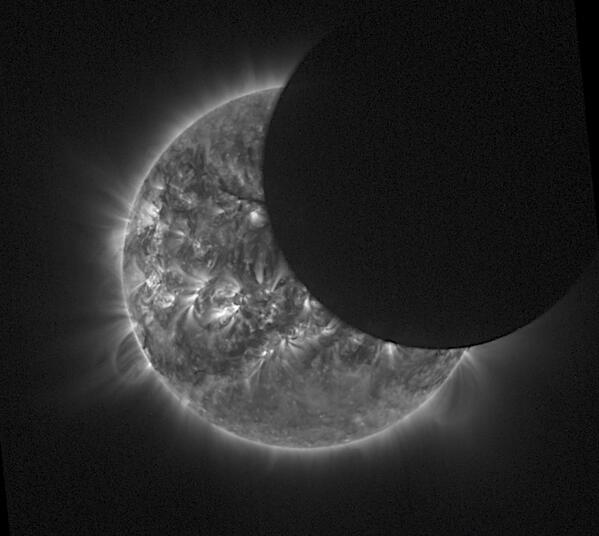 They caught it: @ESA's Proba-2  saw the solar eclipse on several passes today: http://t.co/ZflSS26QPs http://t.co/BSwITNjd7h
