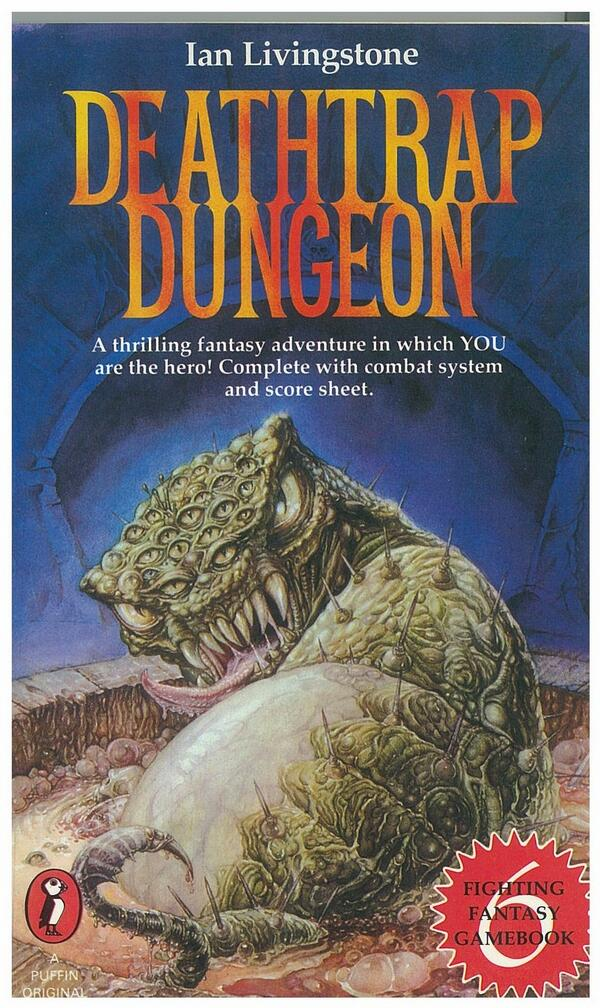 It's 30 years to the day since Deathtrap Dungeon was published. Proud it was the best-selling children's book of 1984 http://t.co/LORK95qTcw