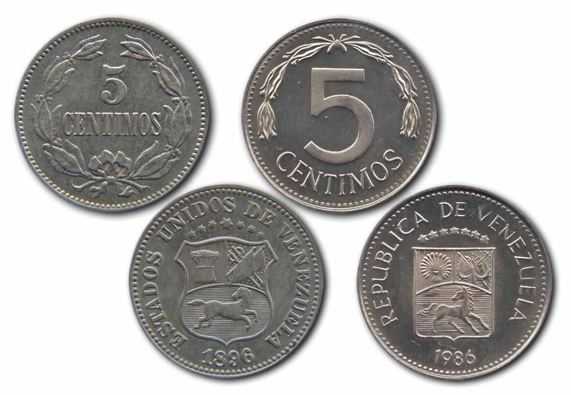 """★Curiosidades★ La moneda de 5  céntimos """"la puya"""" circuló en Venezuela casi 100 años de 1896 hasta 1986 http://t.co/bV9I2fDQ2X"""