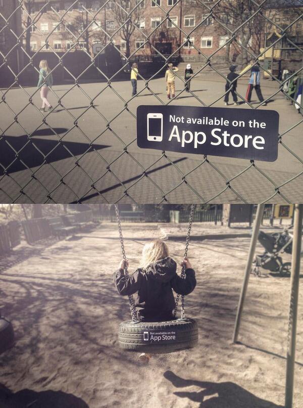 (غير متوفر في متجر البرامج) #NotOnAppStore    حملة توعوية عن الأشياء الجميلة التي لن يجدها الأطفال في أجهزتهم !! http://t.co/lgP4sytxcn
