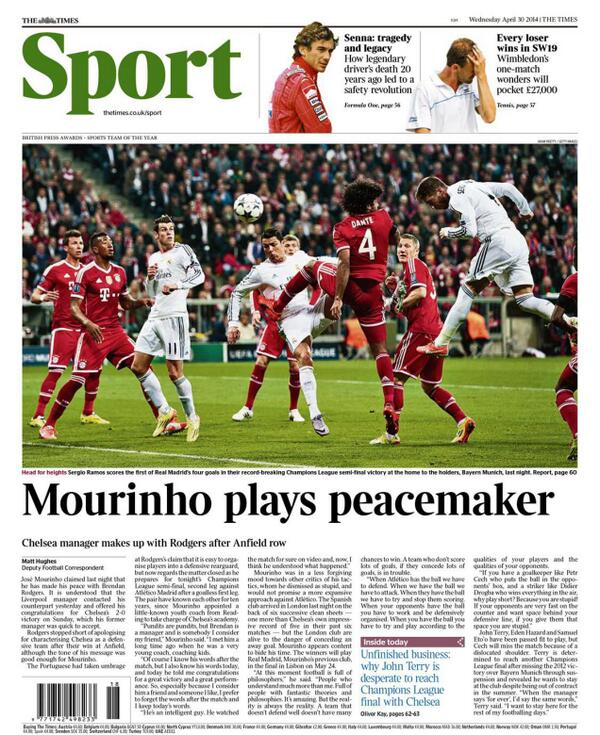 Bma2CBOIUAE2s3p Jose Mourinho forgives Liverpool boss Brendan Rodgers for deriding his tactics [Wednesday Papers]