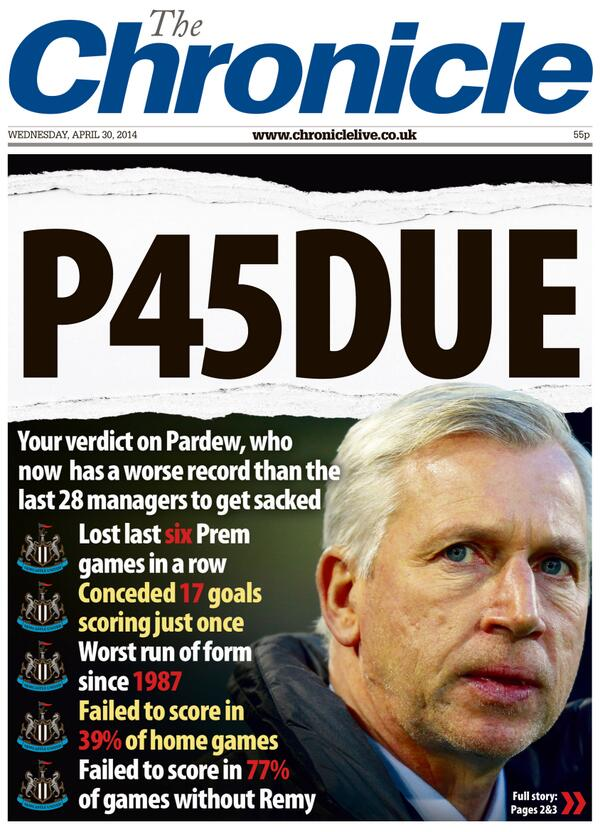 Here's 1st of 2 contenders for tomorrow's @EveningChron front page by #nufc fans. RT to vote yes, favourite for no: http://t.co/t9Fdor4yVU