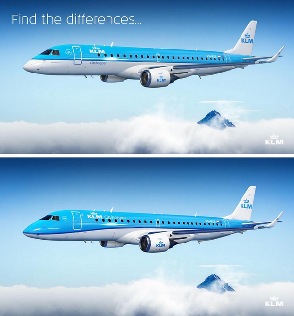 Our #Embraer190  has a new livery! Can you find the five differences? #avgeek http://t.co/PWTFdUC75F