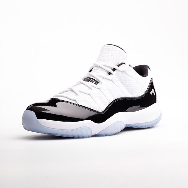 Formal design, premium performance. The Air Jordan 11 goes low in the original 'Concord' colorway this Saturday. http://t.co/G4q33a1cgO