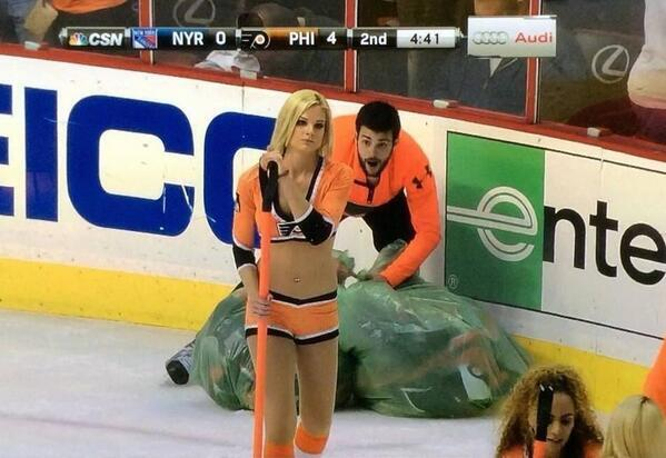 Collecting hat trick hats never looked so good, for this dude.  #Flyers #BecauseItsTheCup http://t.co/h3d5Cwu96E