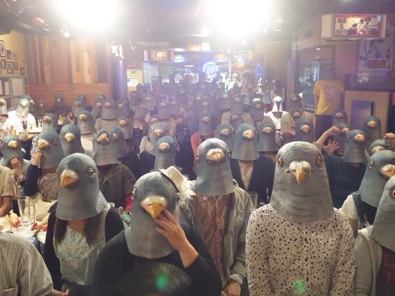 遅ればせながら昨日のハトナイト大阪のようす      #pigeonmask http://t.co/UMJddIASdO