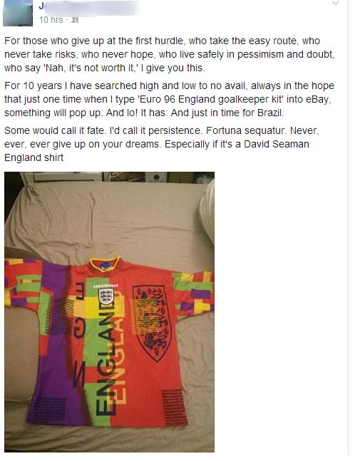 Bmd2Zq9CQAA7nJb England fan finally buys Seamans Euro 96 shirt on eBay, immediately pretends to be the Arsenal hero