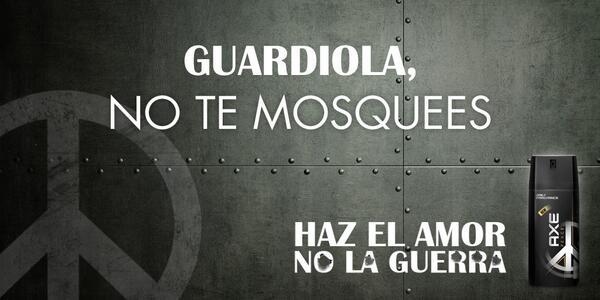 Guardiola haz el amor, no la guerra. #miernes Champions #NosVamosALisboa #LaDecimaEsNuestra http://t.co/2GagNPVs8c