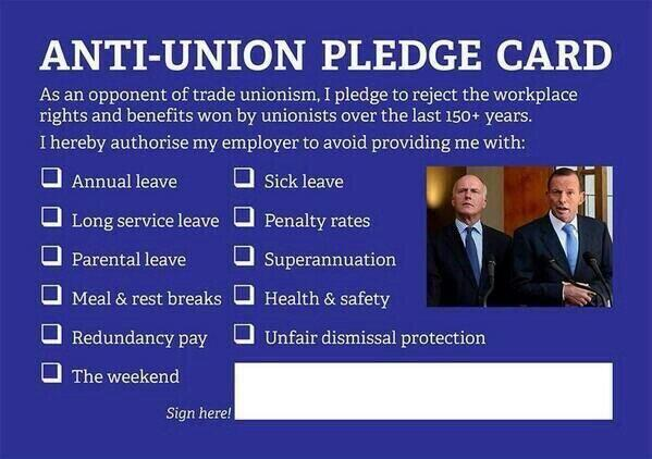 Before you moan about the Unions again , first fill in this card and  give it to your boss - anti-union pledge card http://t.co/yMOlB4vjHm